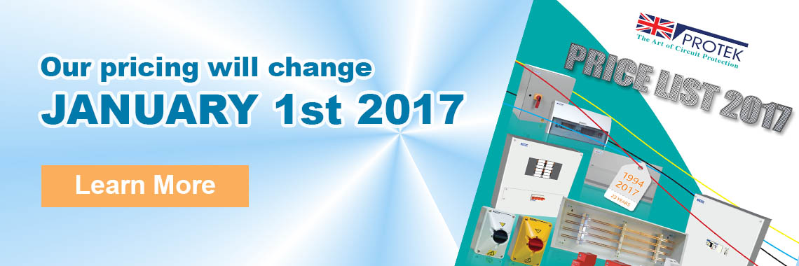 2017 Price Changes