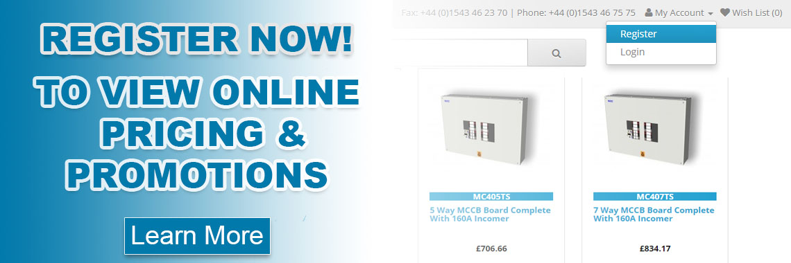 Register To View Up To Date Prices And Promotions