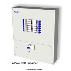 100A 100mA 4 Pole RCD Incoming kit With RCD Cover Plate and Connectors R100/100K