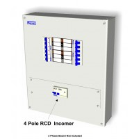 100A 500mA 4 Pole RCD Incoming kit With RCD Cover Plate and Connectors R100/500K