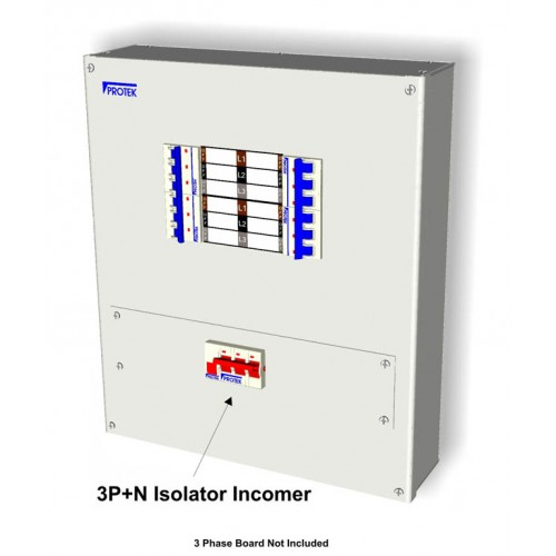 125A 3 Pole TP&N Incoming kit With Isolator and Connectors MS3125K