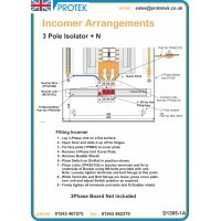 63A 3 Pole TP&N Incoming kit With Isolator and Connectors MS363K