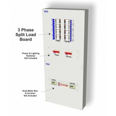 8 Way (4 Power Ways 4 Lighting Ways) 3 Phase Metal Split Load Board TP8SL