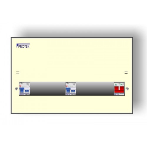 14 Way 17th Edition Amendment 3 Consumer Unit With 100A Isolator and Two 63A 30mA RCDs FREE MCBS A3M17/14-63