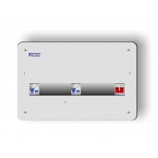 9 Way 17th Edition Metal Flush Fit Consumer Unit With 2 x 63A 30mA RCD MF17/9-63