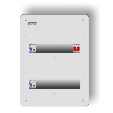 24 Way 2 Bank 17th Edition Metal Flush Fit Consumer Unit With 2 x 63A 30mA RCD MF17/24-63