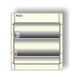 33 Way 2 Bank Insulated IP65 Consumer Unit With 100A 30mA RCD Incomer P100/30-034IP
