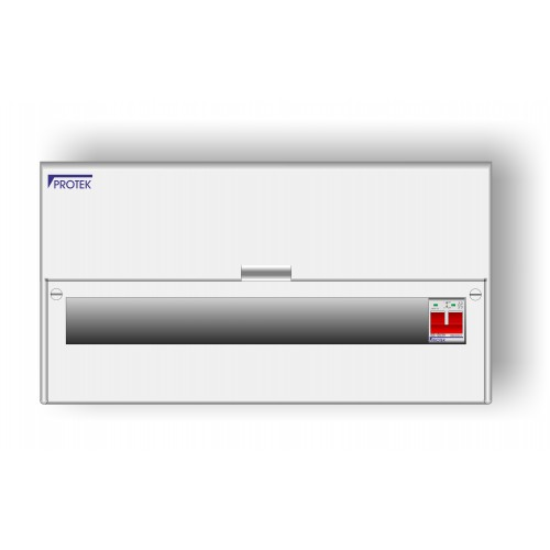 16 Way Insulated IP41 Consumer Unit With 100A Switch Incomer AIS-016