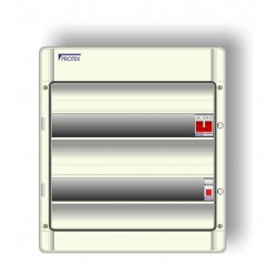 21 Way 2 Bank Insulated IP65 Consumer Unit With 100A Switch Incomer