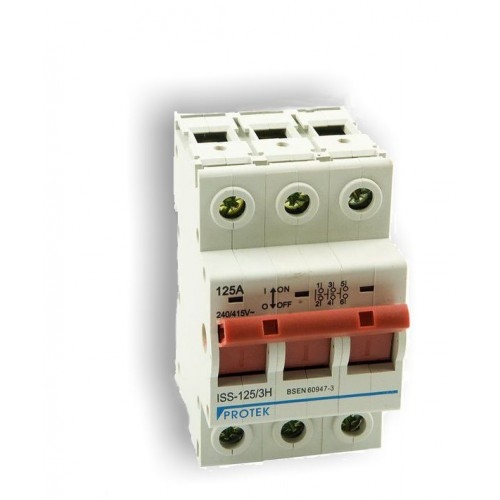 100A 3 Pole 3 Module Isolator Switch ISS-100/3