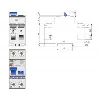 40A 2 Pole 2 Module 100mA Time Delay RCD T40-100-2TD