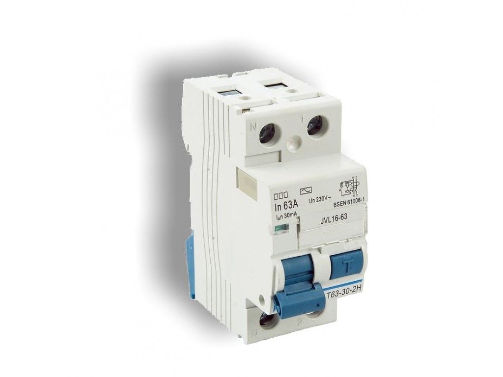 63a 2 pole 2 module 100ma time delay rcd protek uk rh protekuk co uk RCD Circuit Breaker Alternating Current