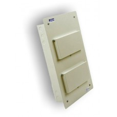 30 Module 2 Bank Metal Flush Fit Din Rail Enclosure MF230