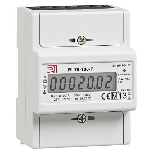 100A 4 Module Direct Connected Multifunction Meter with Pulse/Modbus and Connections SPM1K-MID