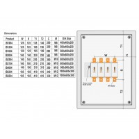 100A 4 Pole IP65 Metal Rotary Switch IS1004