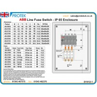 315A 4 Pole IP65 Metal Line Switch Fuse Featuring ABB Switch Technology ABLS3154