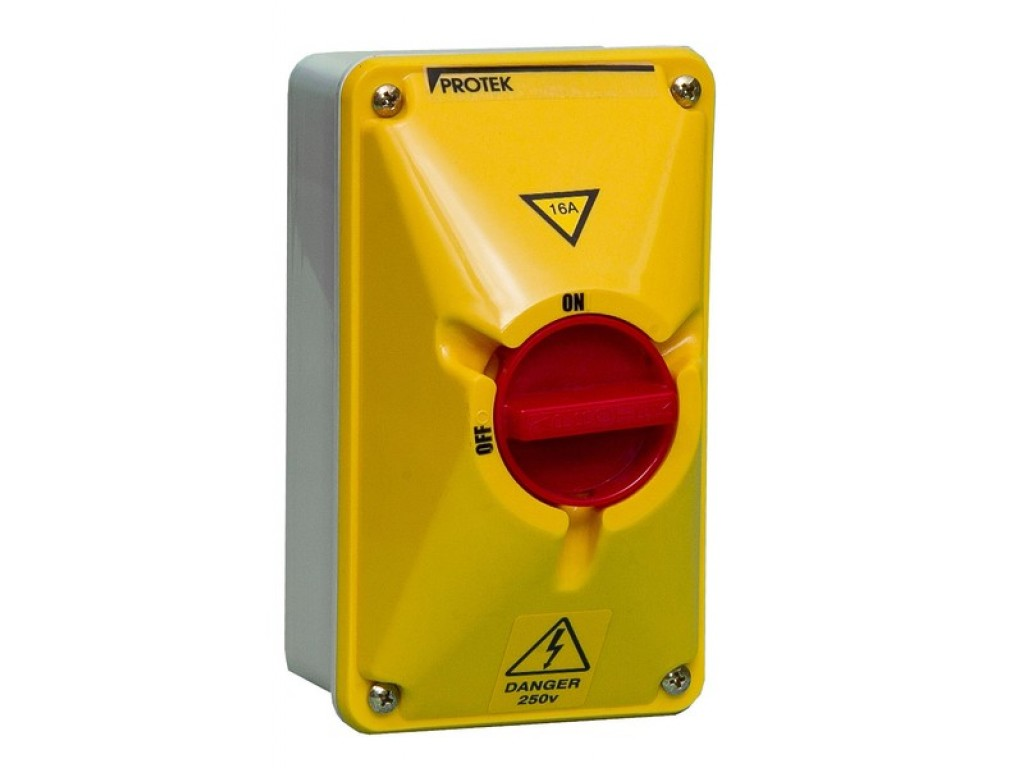 100A 3 Pole IP65 Rotary Switch - Protek UK